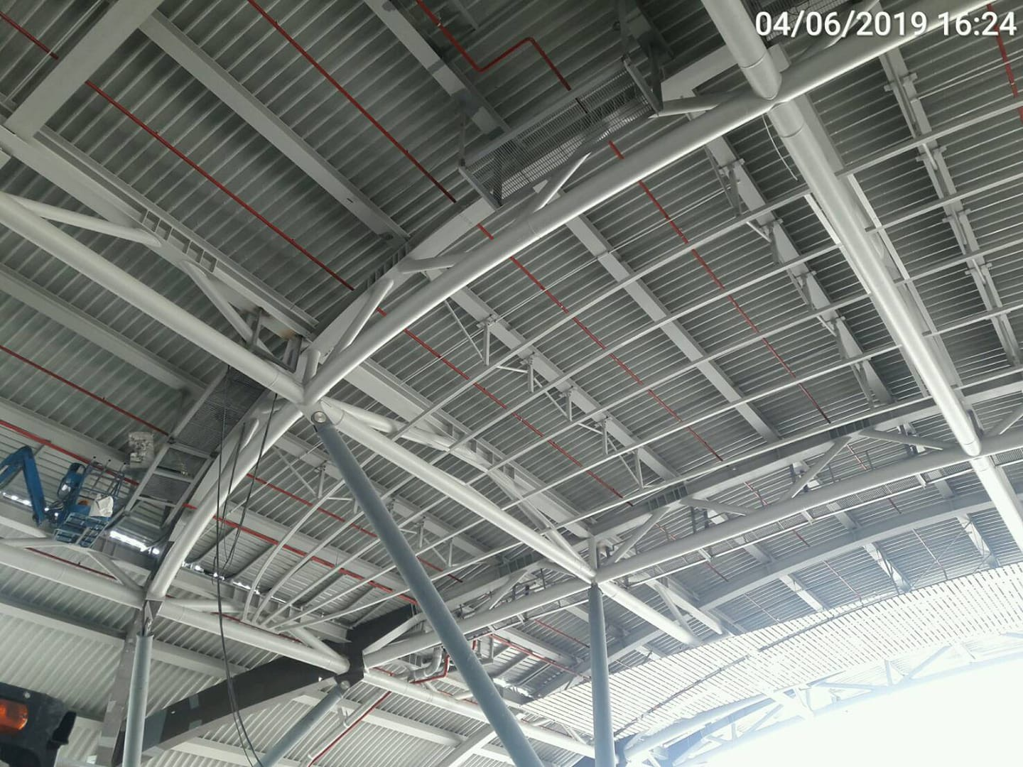 Steel Structure Support Fabric Ceiling